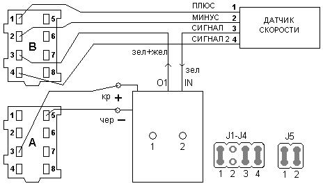 Подключение ПСС-2 спидометру